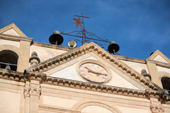 Church external. External oldest Catholic church with artistic sculptures Royalty Free Stock Images