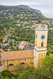 Church in Eze village, France Royalty Free Stock Photos