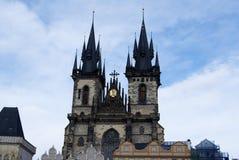 Church Facade at City Centre Prague Stock Photos