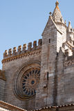 Church facade  in Evora Stock Images