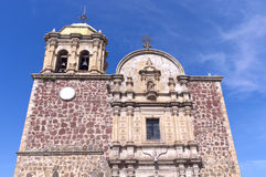 Church Facade in Tequila Mexico Stock Image