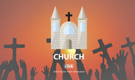 Church Faith Religious Temple Worship Assembly Concept Royalty Free Stock Photo