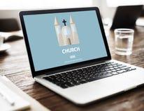 Church Faith Religious Temple Worship Assembly Concept Stock Image