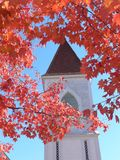 Church in the Fall. New England church in the Fall royalty free stock image