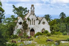 Church fallen into ruin Barbados Royalty Free Stock Photo