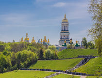Church of famous Kiev Pechersk Lavra Monastery Stock Photos