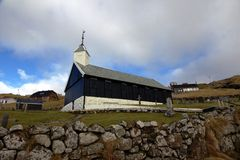 Church in the Faroe Islands royalty free stock image