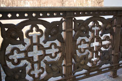 Church fence detail. With cross motif Royalty Free Stock Photos