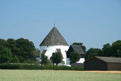 Church and field stock image