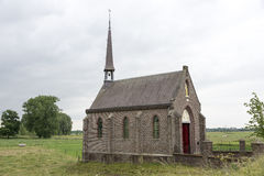 Church in the field near the village ohe and laak Royalty Free Stock Photo