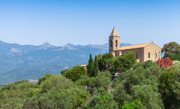 Church of Figari village, Corsica, France Royalty Free Stock Photography
