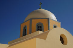 Church at fira , santorini , Greece Stock Image