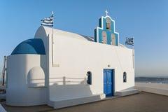 Church in Fira, Santorini, Greece at sunset Royalty Free Stock Photography