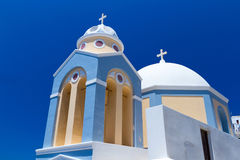 Church of Fira town at Santorini island. Greece Royalty Free Stock Photos
