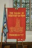 Church Flag of Holy Trinity Church Royalty Free Stock Photos