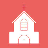 Church flat icon with eps10. Building church flat icon eps10 illustration Royalty Free Stock Images