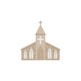 Church flat icon, religion building elements. Religious sign, a colorful solid pattern on a white background, eps 10 royalty free illustration