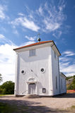 Church in Flatoen, Schweden Royalty Free Stock Images