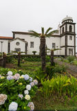 Church on Flores, Azores Stock Photo