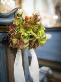 Church flower arrangement Stock Photo