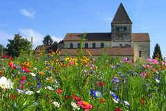 Church in flowers Stock Images