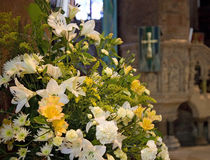 Church Flowers Royalty Free Stock Images