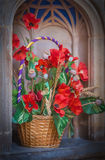 Church flowers Stock Images