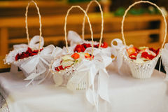 Church flowers wedding bride. Ceremony Stock Photo
