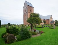 Church on Foehr Island. Foehr or Föhr is one of the North Frisian Islands on the German North Sea coast. It is located in the federal state of Schleswig stock photos