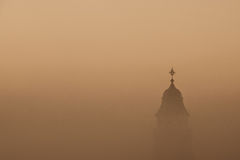 Church in a fog Royalty Free Stock Photos