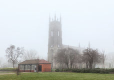 Church In Fog - Manchester UK Stock Images