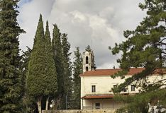 Church in fores near Filiates. Greece Stock Image