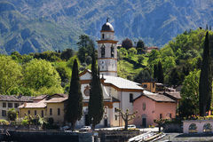 Church on the foreshore of Lake Como Royalty Free Stock Images