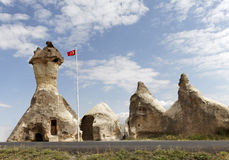 Church formed from limestone caves Stock Photo