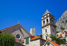 Church and fort at Omis (Croatia) Stock Image
