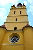 Church of  the fortified medieval church Cristian, Transylvania Stock Photo