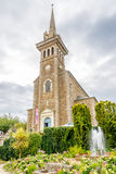 Church with fountain in Dinard Stock Photos