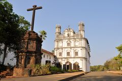 Church Francis of Assisi, old Goa, India Royalty Free Stock Photo