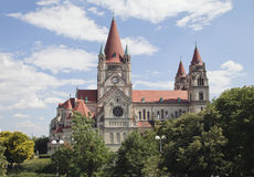 Church of Francis of Assisi in Vienna Stock Images