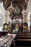 The Church of Franciscans in Ljubljana, Slovenia Royalty Free Stock Image