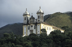 Church of São Francisco de Paula in Ouro Preto, Brazil. Stock Photography