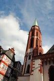 Church in Frankfurt stock photography
