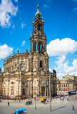 Church Frauenkirche area Royalty Free Stock Images