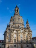 Church Frauenkirche Church of the Virgin in Dresden, one of the most significant Lutheran churches of the city.  stock photography