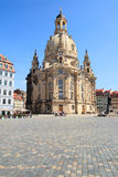 Church Frauenkirche, Dresden. The famous reconstructed Church Frauenkirche in Dresden. Church Of Our Lady Stock Images