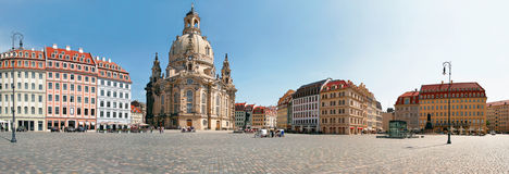 Church Frauenkirche, Dresden. The famous reconstructed Church Frauenkirche in Dresden. Church Of Our Lady Stock Photography