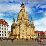 Church Frauenkirche , Dresden Royalty Free Stock Photos