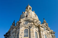 Church Frauenkirche in Dresden Royalty Free Stock Images