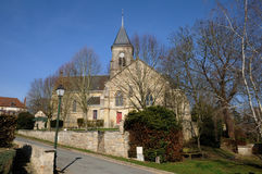 Church of Fremainville in Val d Oise Stock Photo