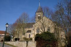Church of Fremainville in Val d Oise Royalty Free Stock Photography